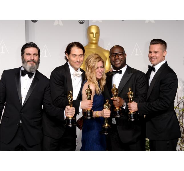Brad Pitt agli Oscar 2014 come produttore di