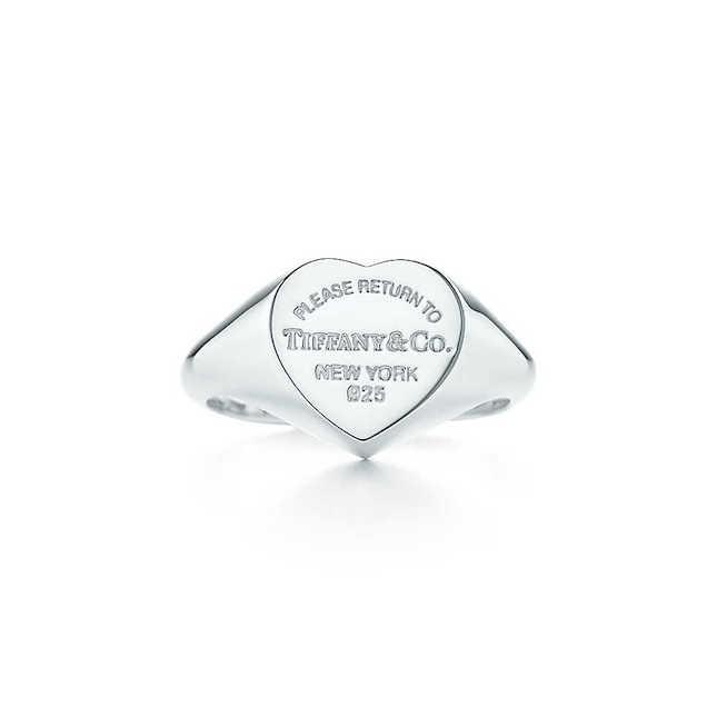 Anello Tiffany con cuore