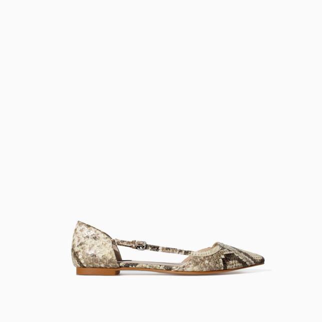 Ballerine piotante collezione ss 2014 Zara con cinturino