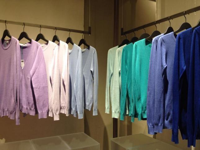 Maglie monocolor con tanti tipi di scollature - Benetton
