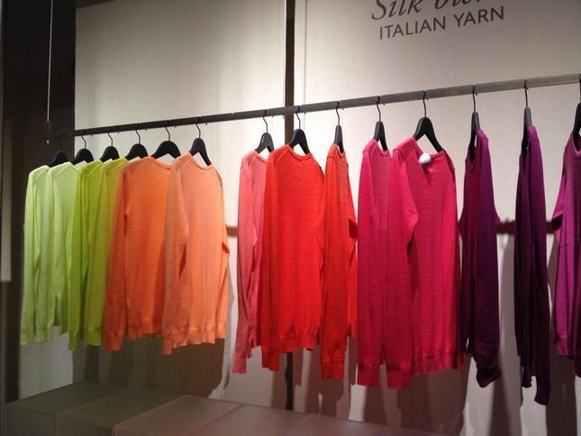 Maglie in gradazione di colori - Benetton