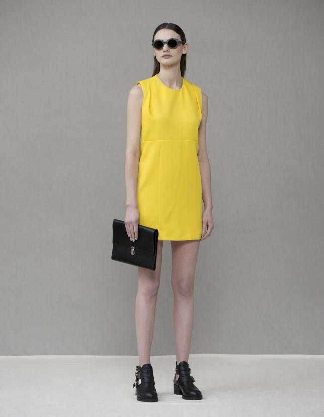Tubino giallo della collezione ss2014 di Cristina Miraldi