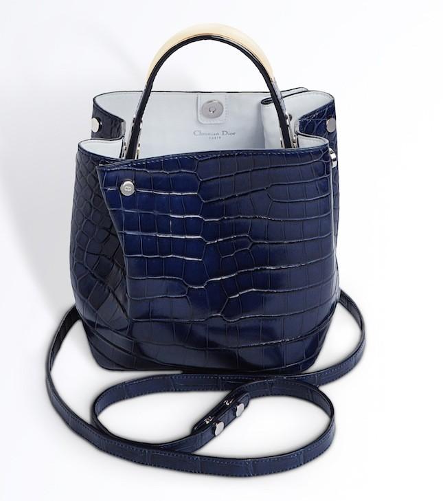 Borsa a secchiello Dior in coccodrillo collezione p/e 2014