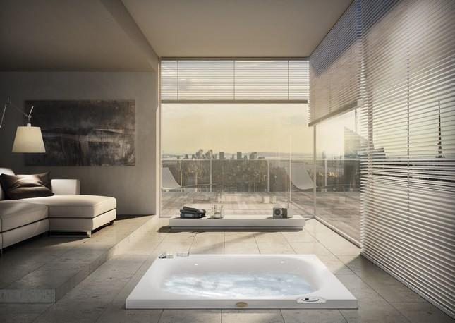 In camera o sul terrazzo, la Jacuzzi City Spa è posizionabile in ogni ambiente domestico