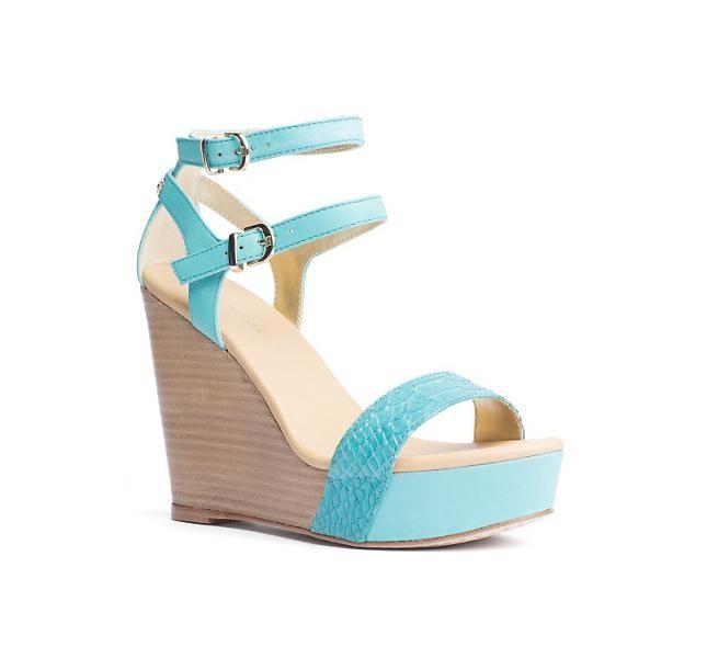 Sandalo azzurro con zeppa Tommy Hilfiger , modello Estelle