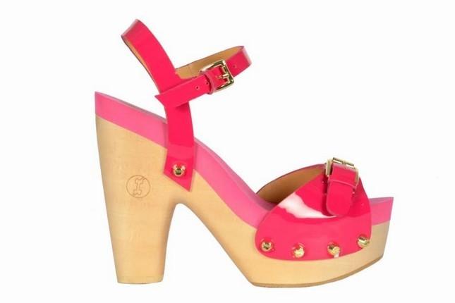 Sandalo in legno Flogg, modello high heels