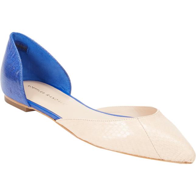 Ballerine collezione ss2014 di Loeffler Randall bicolor beige ed azzurro