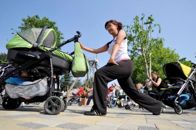 Fitness con il bambino a Leolandia