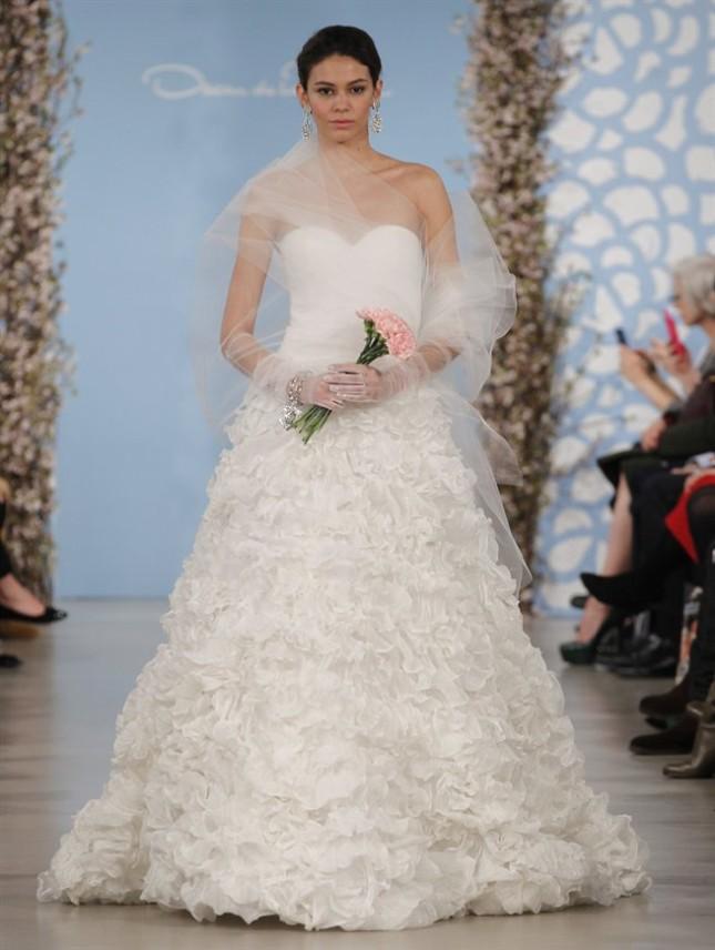 Abito Anemone, Oscar de la Renta collezione sposa PE 2014