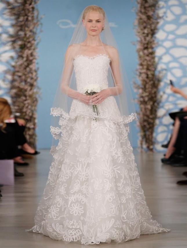 Abito Avery, Oscar de la Renta collezione sposa PE 2014