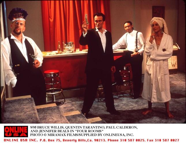Tarantino e Bruce Willis di nuovo insieme sul set dell'episodio realizzato per il film Four Rooms
