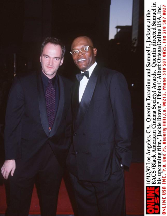 Quentin Tarantino e l'attore Samuel L.Jackson