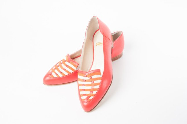 Ballerine color corallo della collezione ss2014 di SI-V