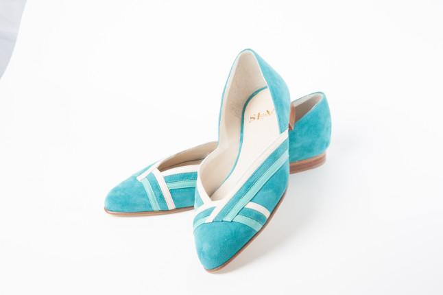 Ballerine color turchese della collezione ss2014 di SI-V