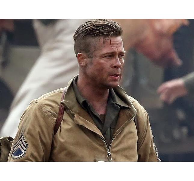 Brad Pitt sul set di
