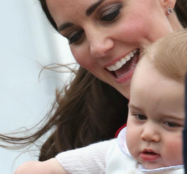 Una tenera immagine di Kate e George