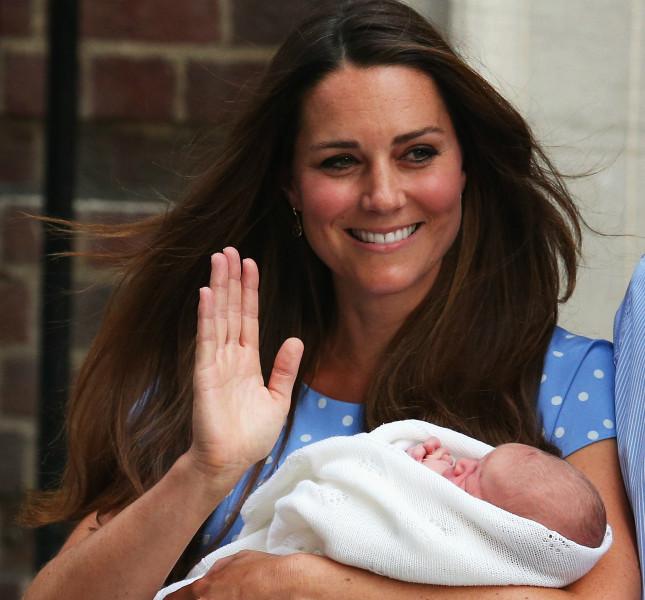 La presentazione ufficiale del Principe George poco dopo la nascita.