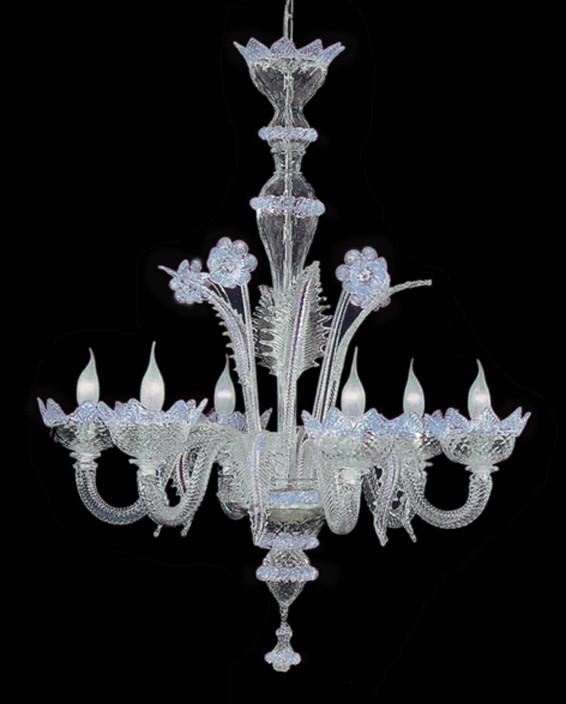 lampadario murano classic azzurro