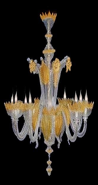 lampadario murano grande classic oro