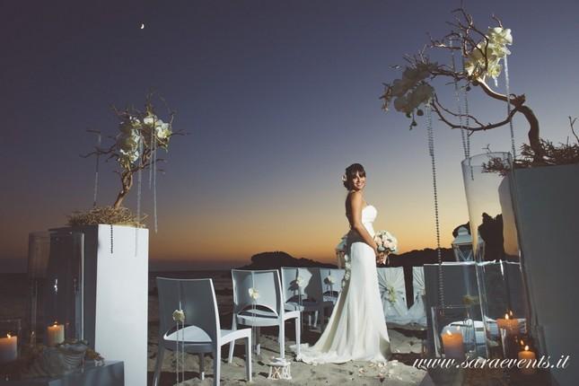 Matrimonio in spiaggia al tramonto - Sara Events