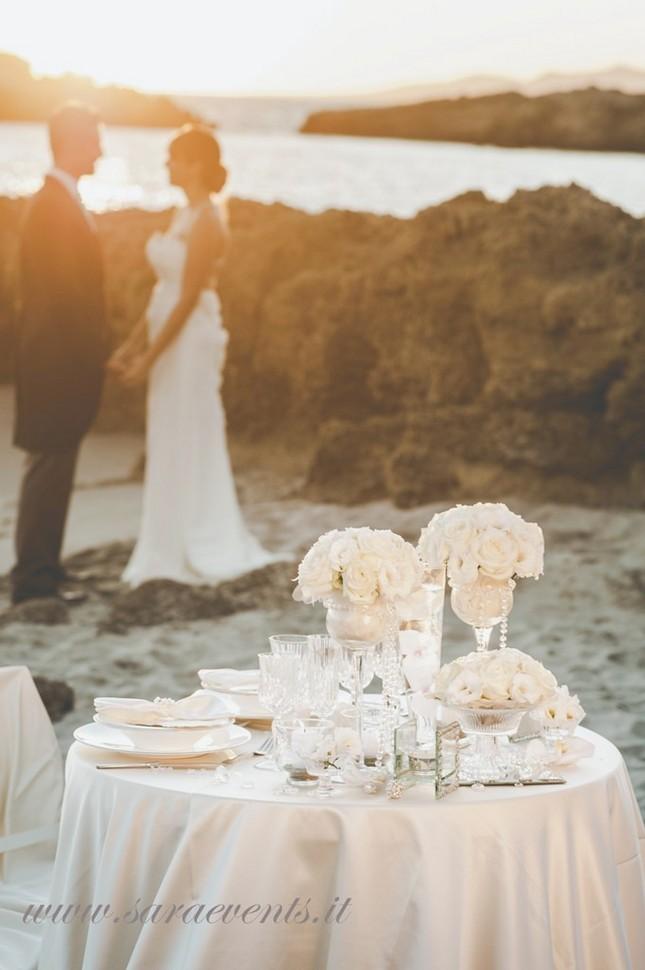 Scorcio romantico di un matrimonio sul mare - Sara Events