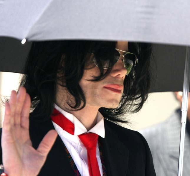 Michael Jackson durante il processo