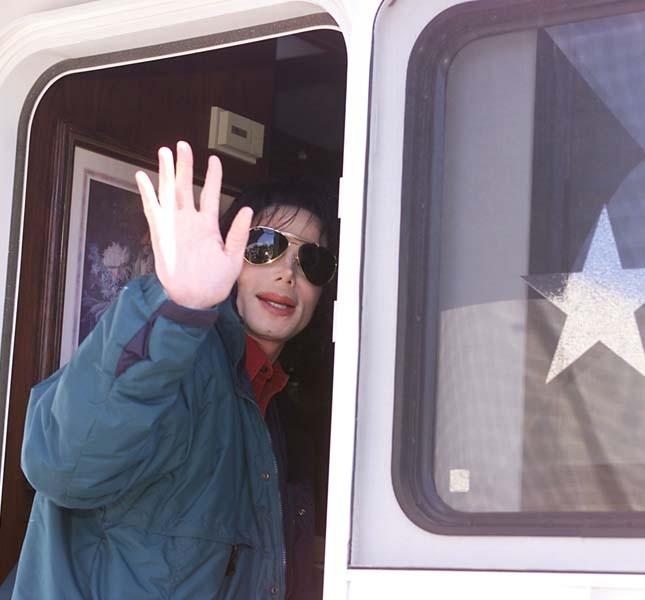 Michael Jackson alla festa per i suoi cinquant'anni