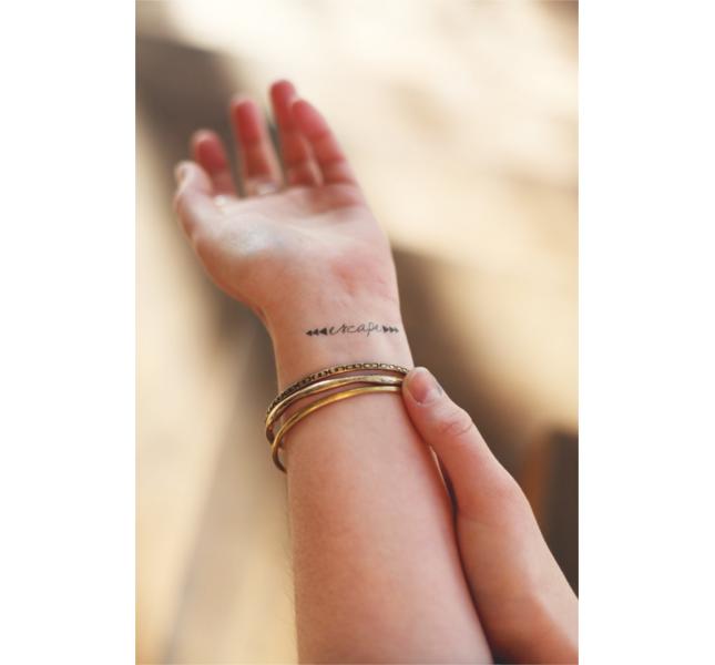 Tattoo scritta sul polso