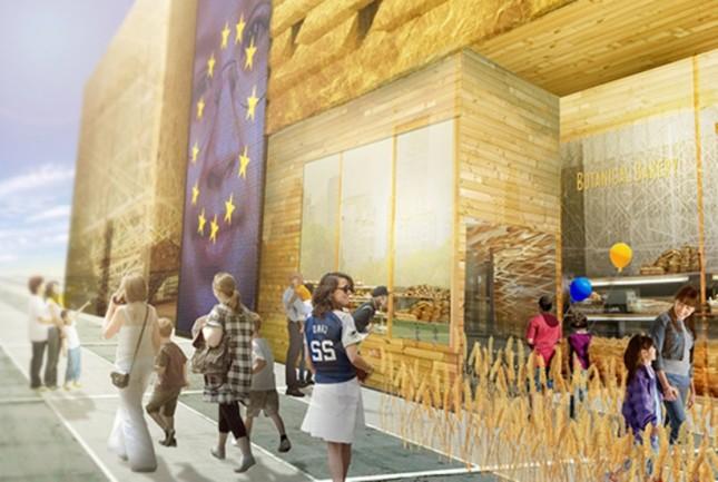I padiglioni dei paesi partecipanti: Unione Europea