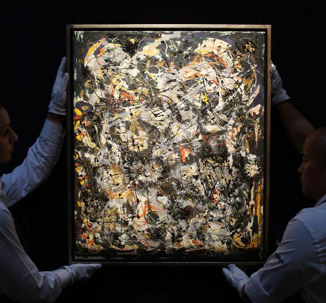 Un'opera di Pollock recentemente messa all'asta da Sotheby.