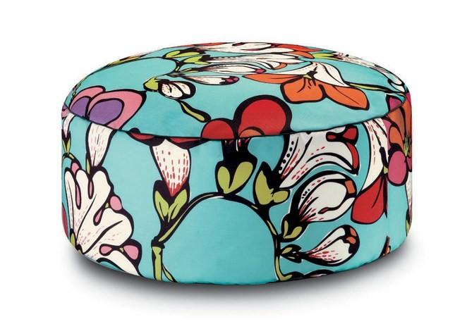 Pouf Pallina in fresia multicolor, Missoni Home