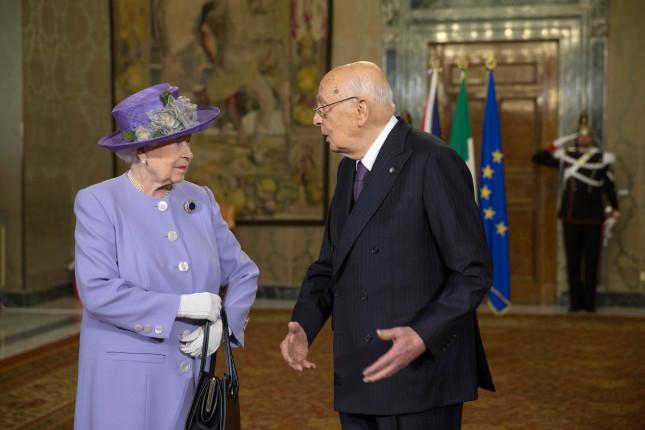 La regina Elisabetta con il presidente Napolitano