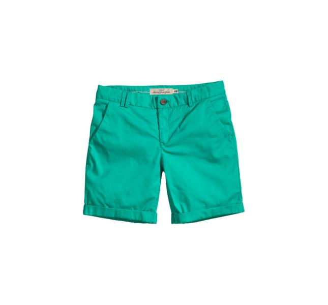 Shorts chino verdi H&M
