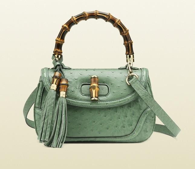 Bamboo bag di Gucci, verde acqua