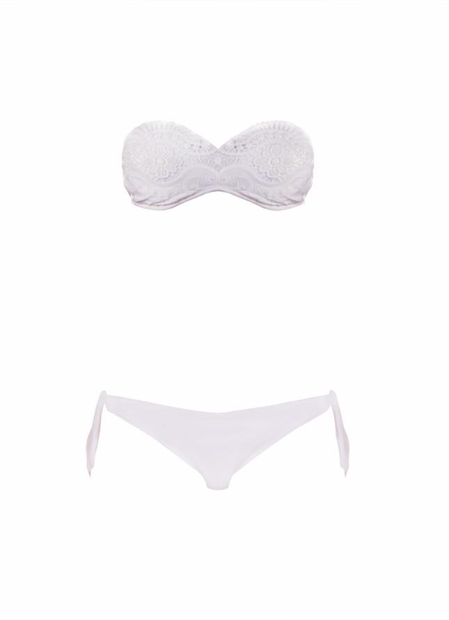 Bikini in pizzo bianco