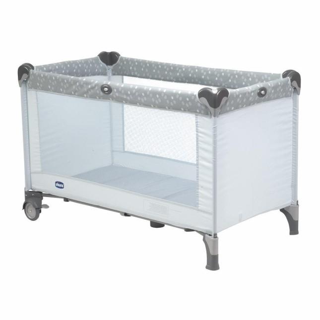 Chicco Lullaby con semplice sistema di chiusura a scatto, trasportabile nella borsa in dotazione. Con ruote e fondo rigido
