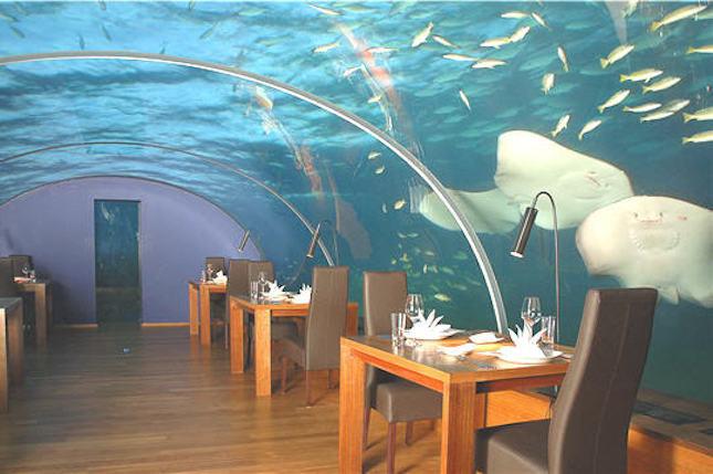 Hilton Resort _ristorante sotto il livello del mare