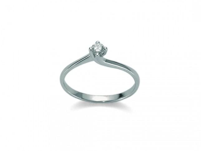 Solitario Miluna collezione I Diamanti 8 Cuori
