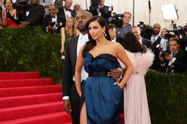 Gli sposi Kim Kardashian e Kanye West