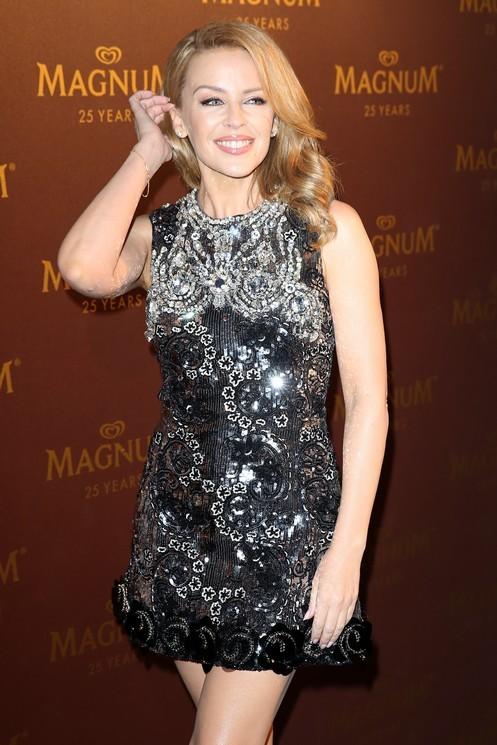 Kylie Minogue al party di Magnum