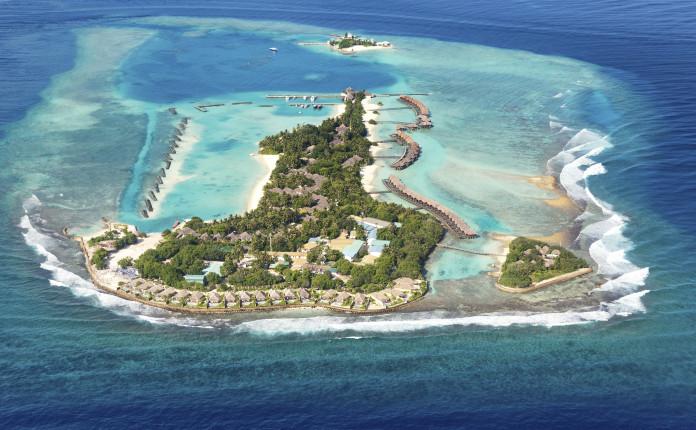 Vista aerea delle Maldive