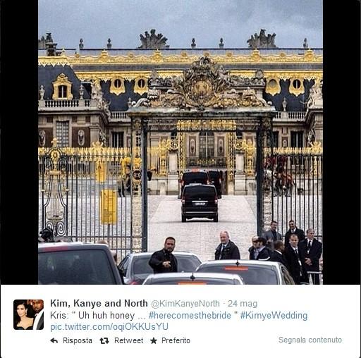 Kim Kardashian e Kanye West, sposi a Firenze. Credits: instagram