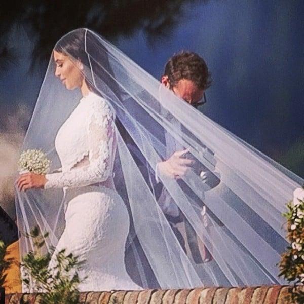 La sposa con un abito  Givenchy Haute Couture by Riccardo Tisci. Credits: instagram