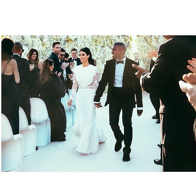Kim Kardashian e Kanye West, dopo il fatidico sì. Credits: Kim Kardashian on instagram