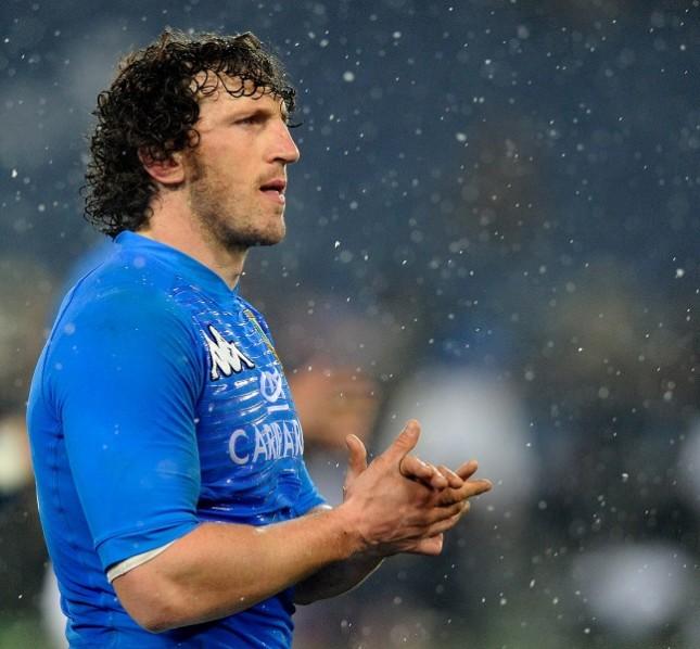 Mauro Bergamasco nella partita Italy vs England