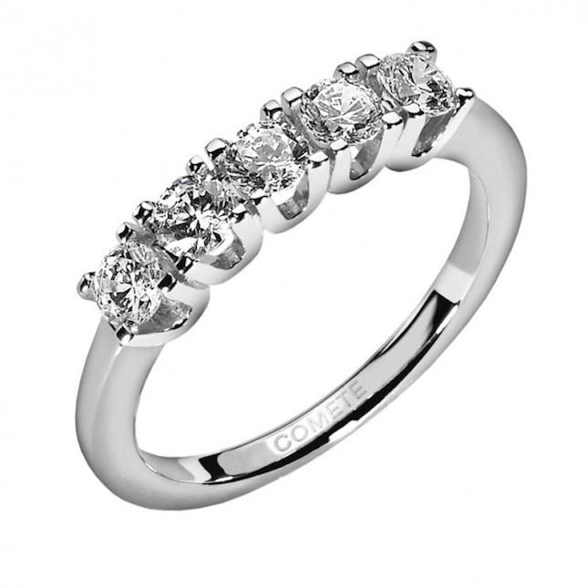 Anello in Oro 18 kt  e diamanti
