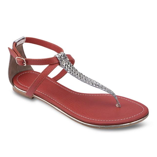 Sandalo rosso con dettaglio argentato Pepe Jeans