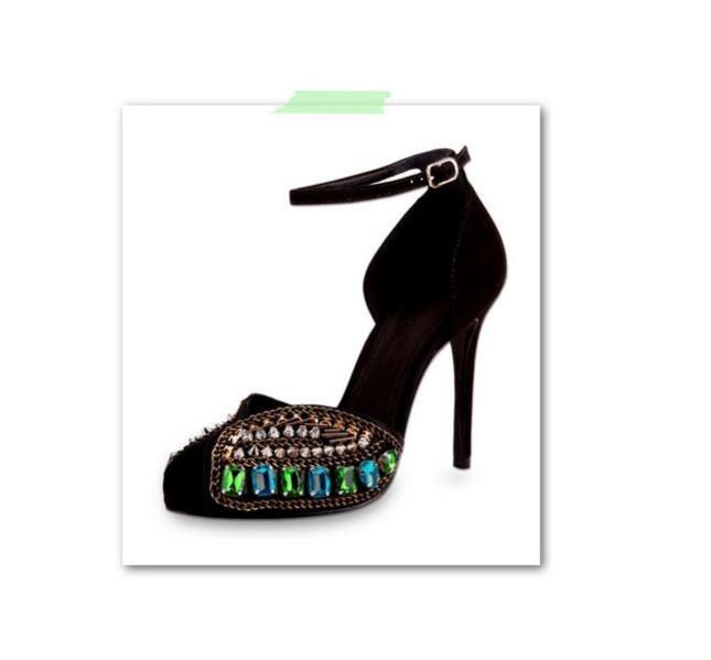 Scarpa nera e dettagli colorati, Schutz