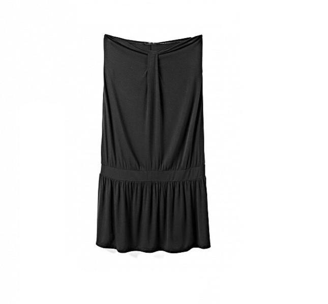 Vestito nero da mare, senza spalline