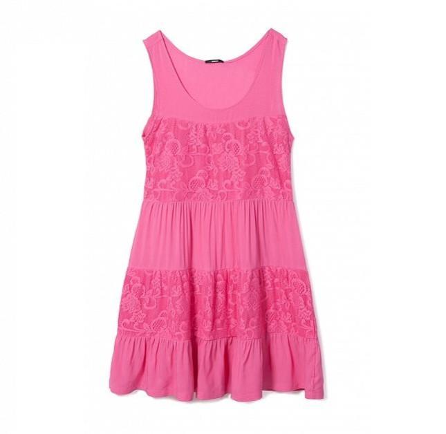 Vestito rosa da mare